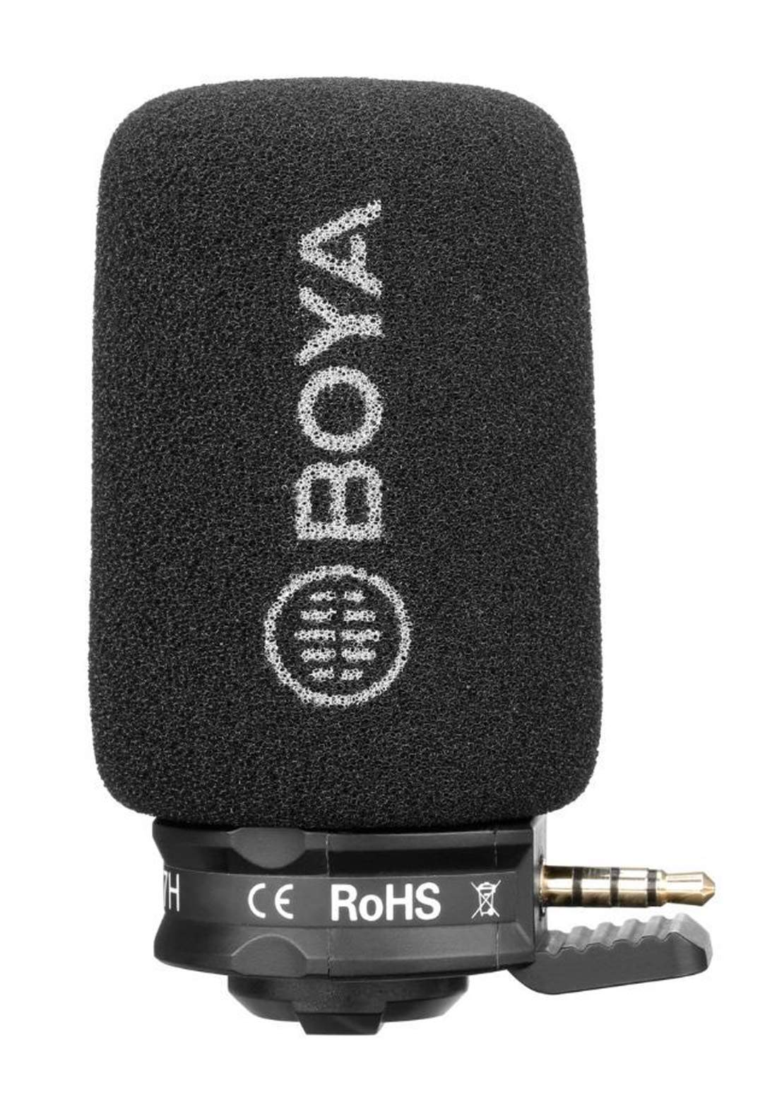 BOYA BY-A7H Plug-In Condenser Microphone - Black مايكروفون