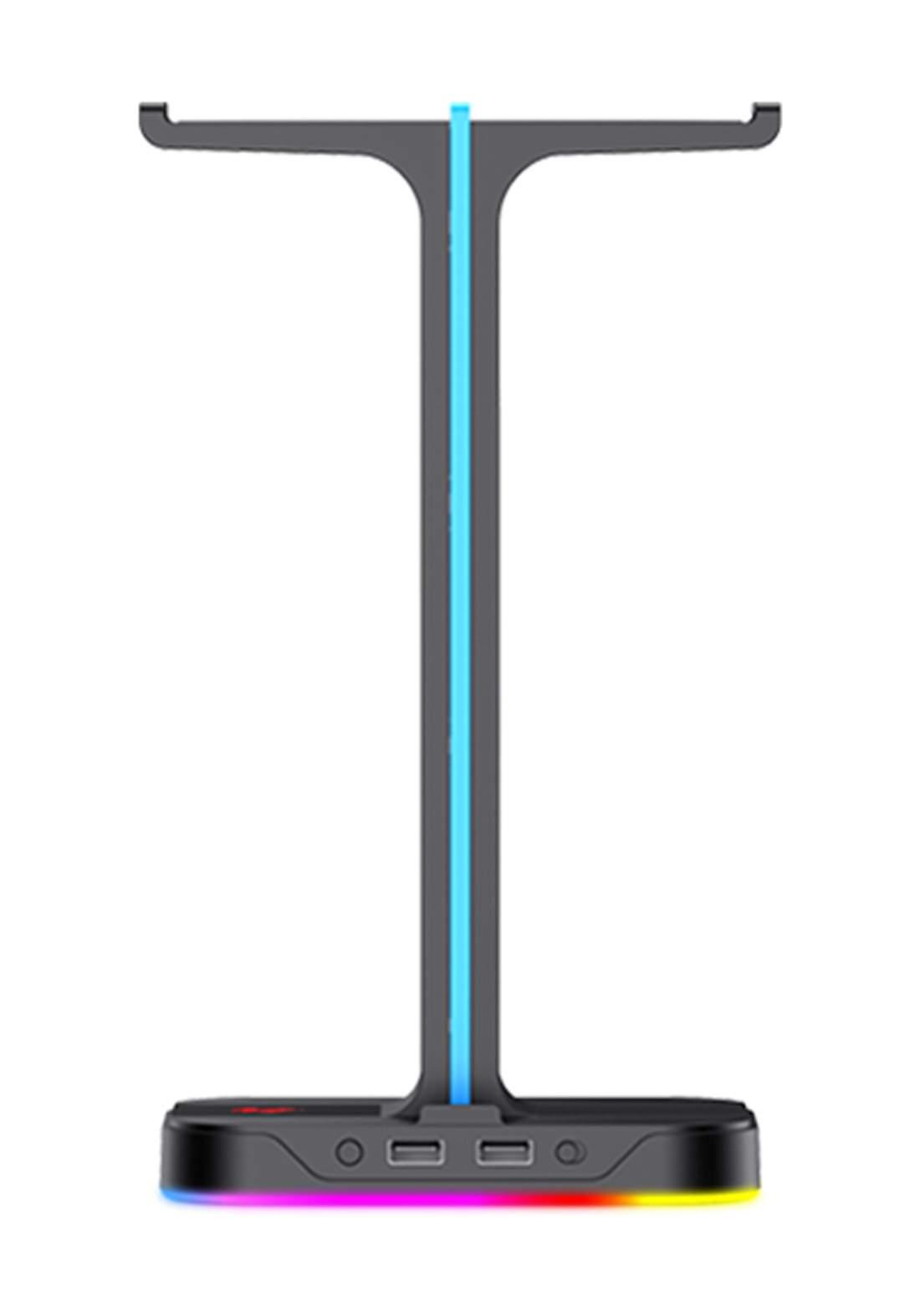 Havit TH650 RGB Headset Stand With Dual Hanger حامل سماعة