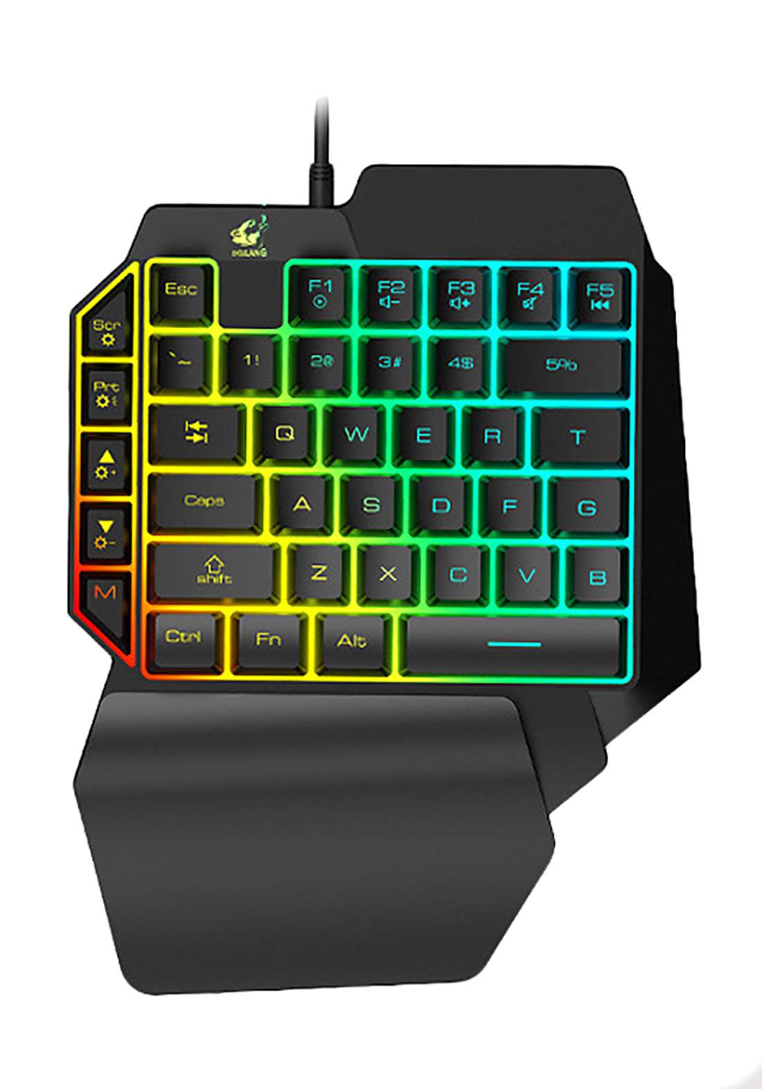 Ziyou Lang K15 RGB One-Handed Mechanical Keyboard - Black كيبورد