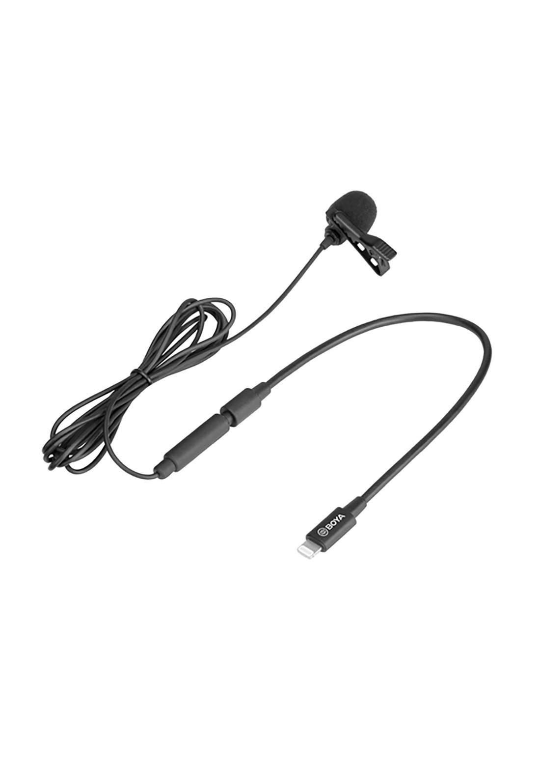 Boya BY-M2 Digital Omnidirectional Lavalier Microphone - Black مايكروفون