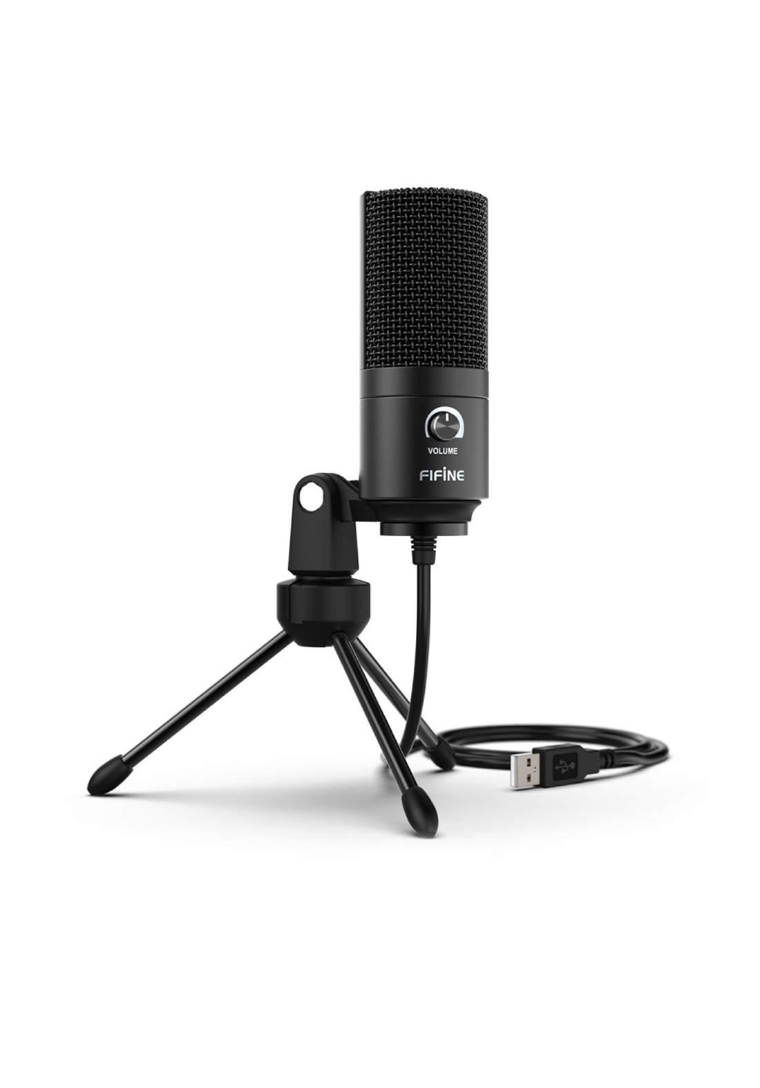 Fifine K669B USB Wired Audio Microphone - Black مايكروفون