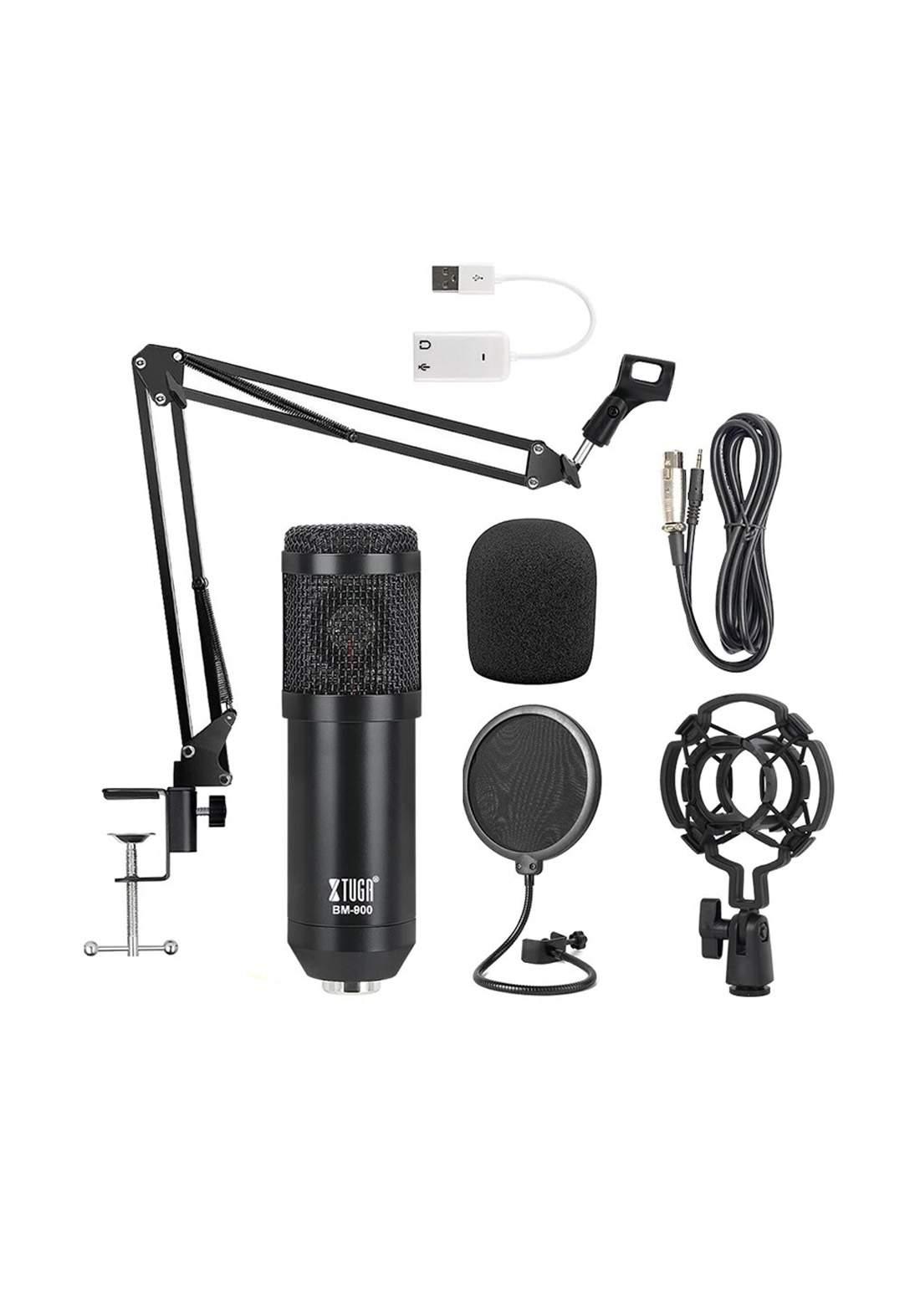 XTUGA BM800 Professional Condenser Microphone - Black مايكروفون
