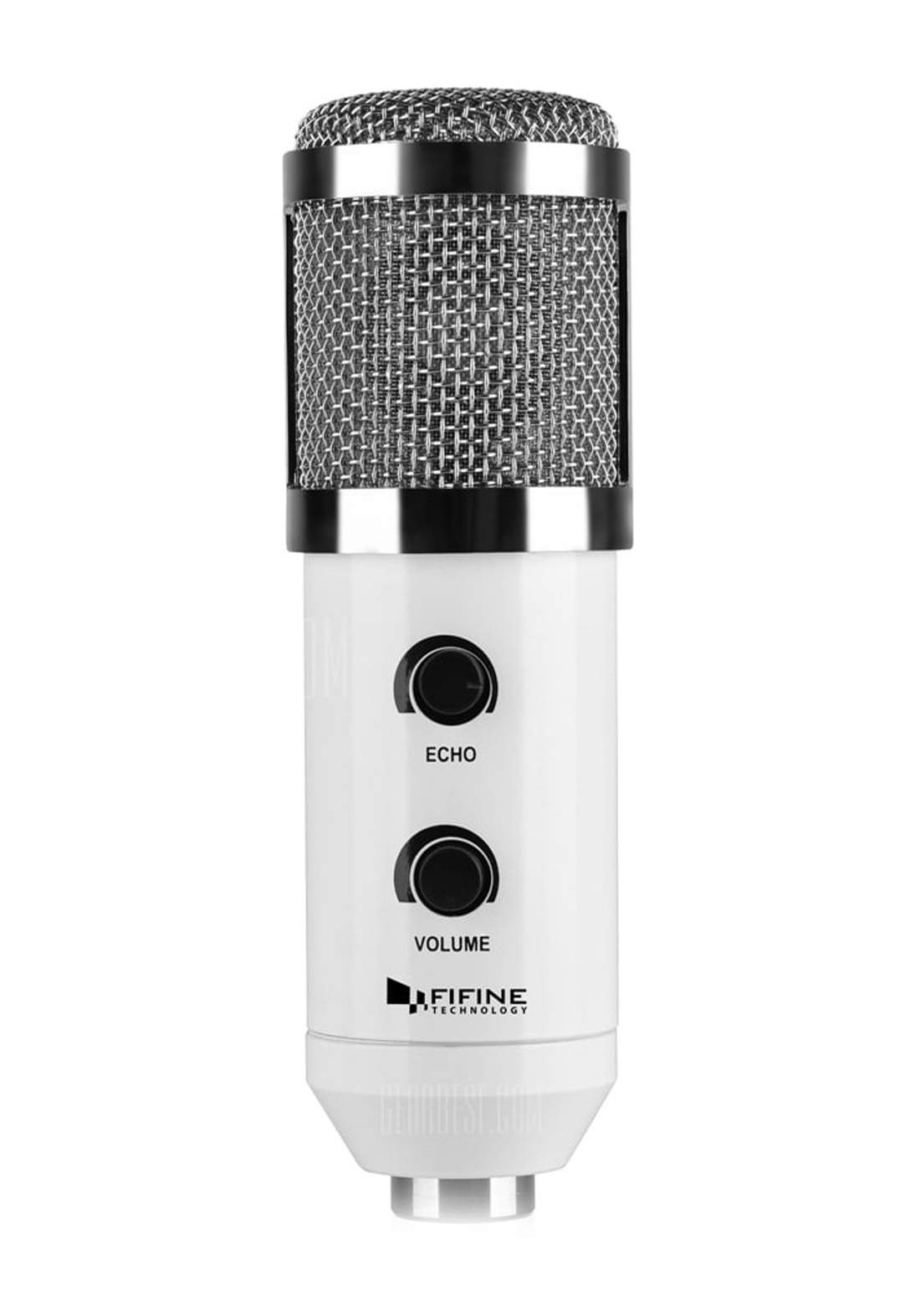 Fifine K056 USB Stereo Microphone for PC Laptop with Tripod Stand - White مايكروفون