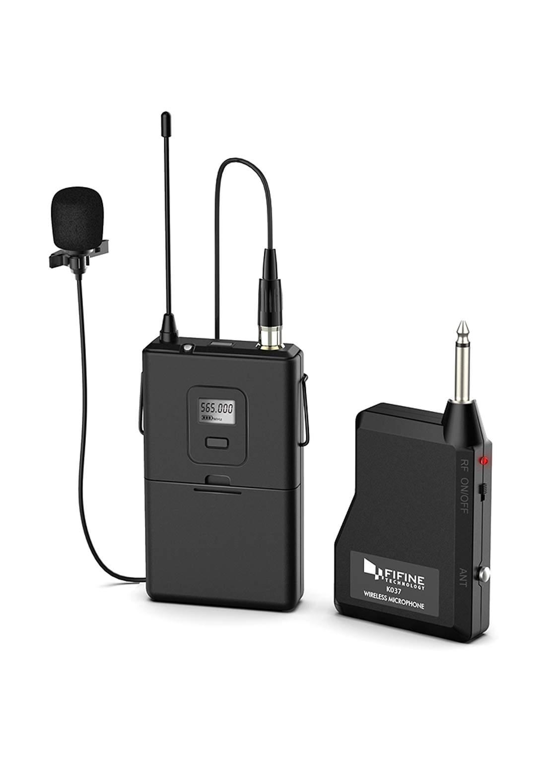 Fifine K037 UHF Wireless  Microphone - Black مايكروفون