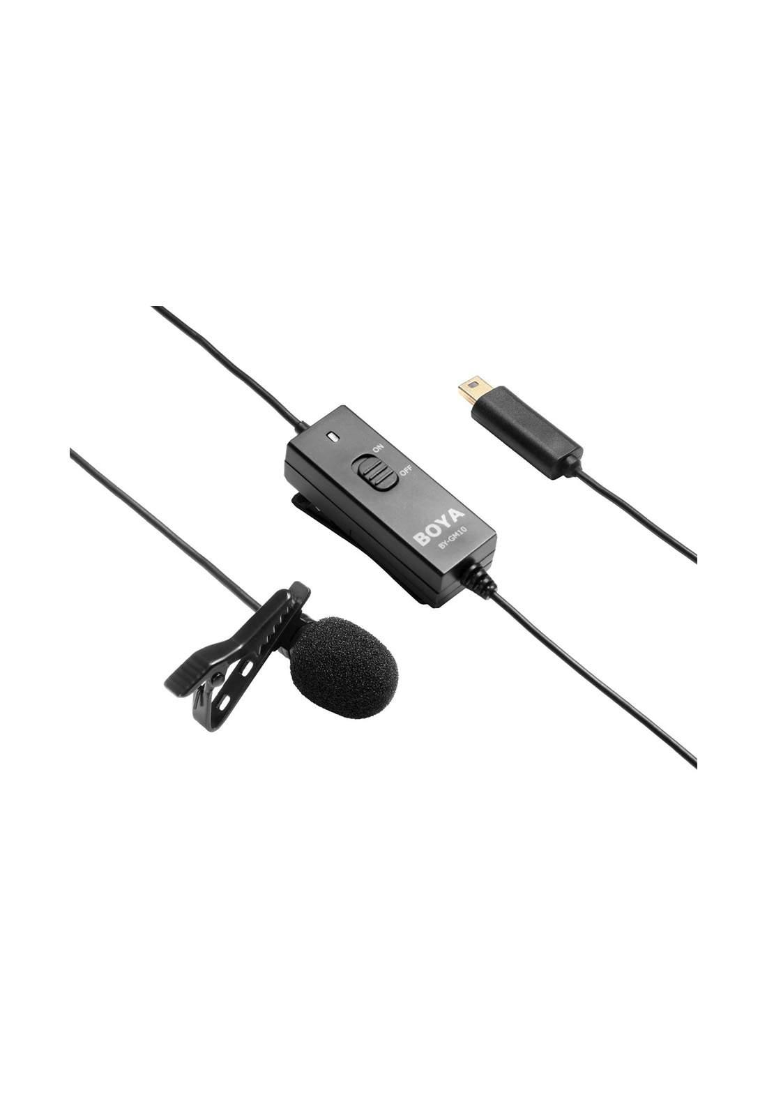 Boya BY-GM10 Omni Directional Condenser Lavalier Mic Microphone -Black مايكروفون
