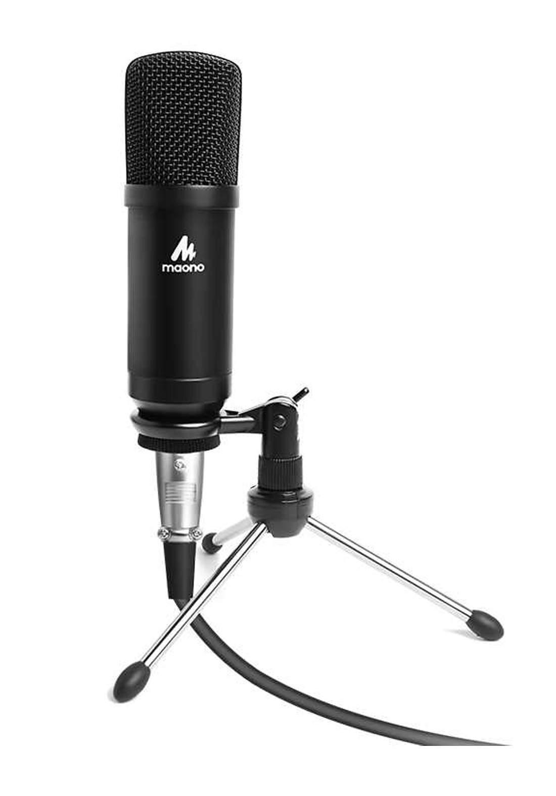 Maono AU-A03TR JACK 3.5MM XLR Wired Microphone - Black مايكروفون