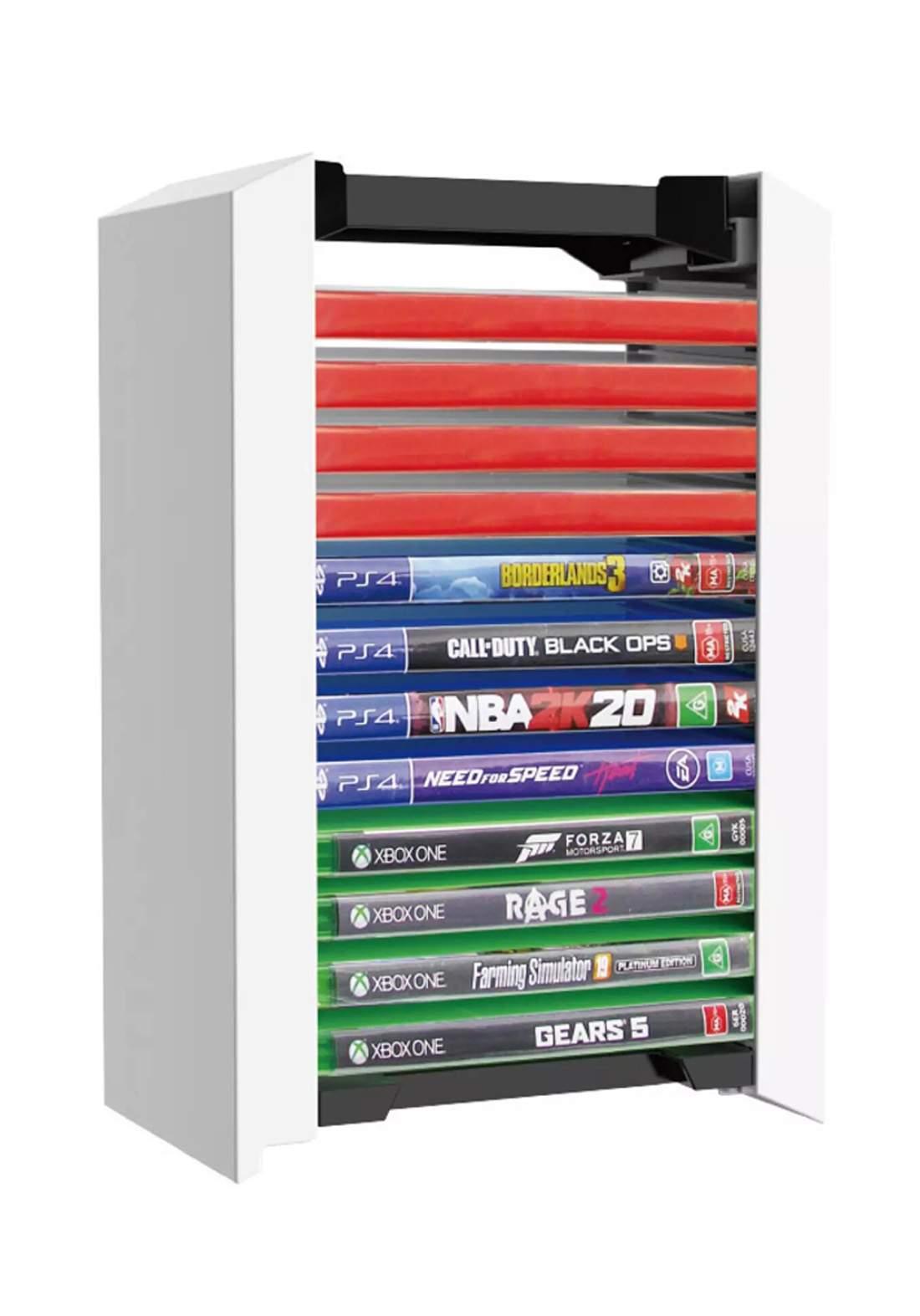 Dobe TPS-052 Storage Tower 12 Disc - White ستاند تخزين