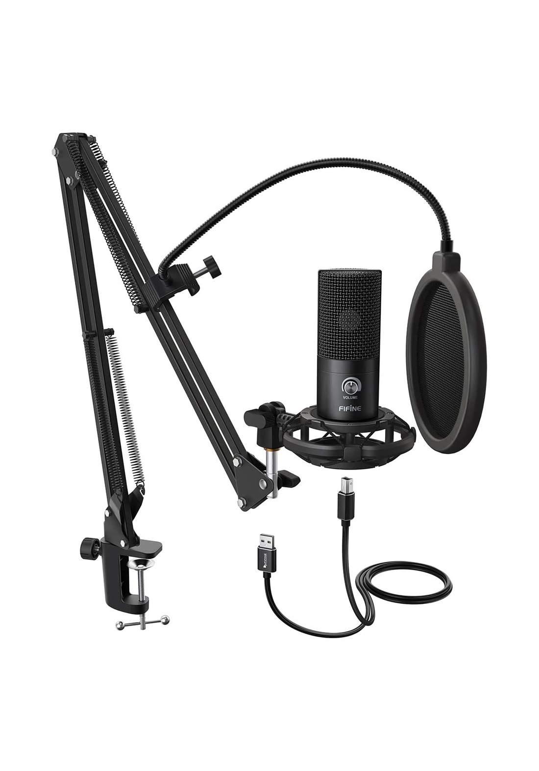 Fifine T669 Condenser Microphone - Black  مايكروفون