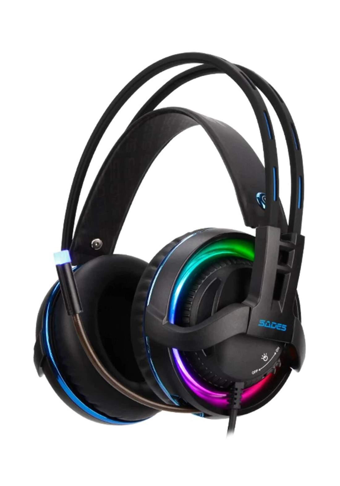 Sades Diablo Wired Gaming Headset - Black سماعة سلكية