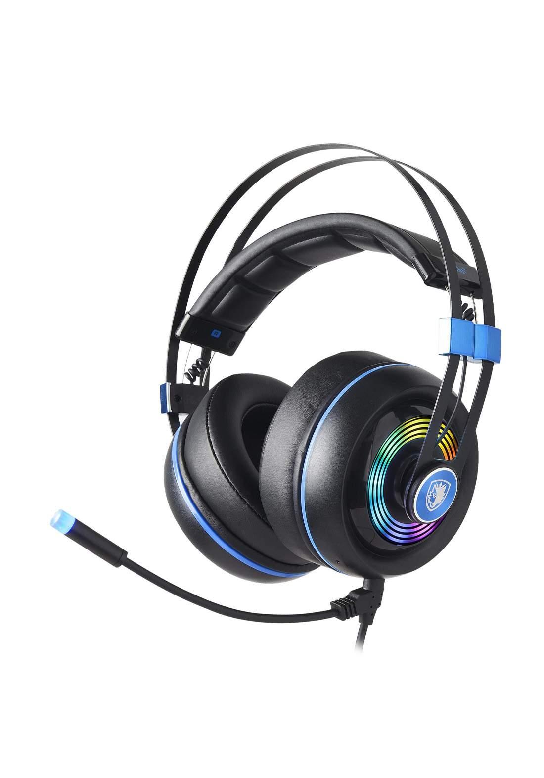 Sades Armor Wired Gaming Headset - Black سماعة سلكية