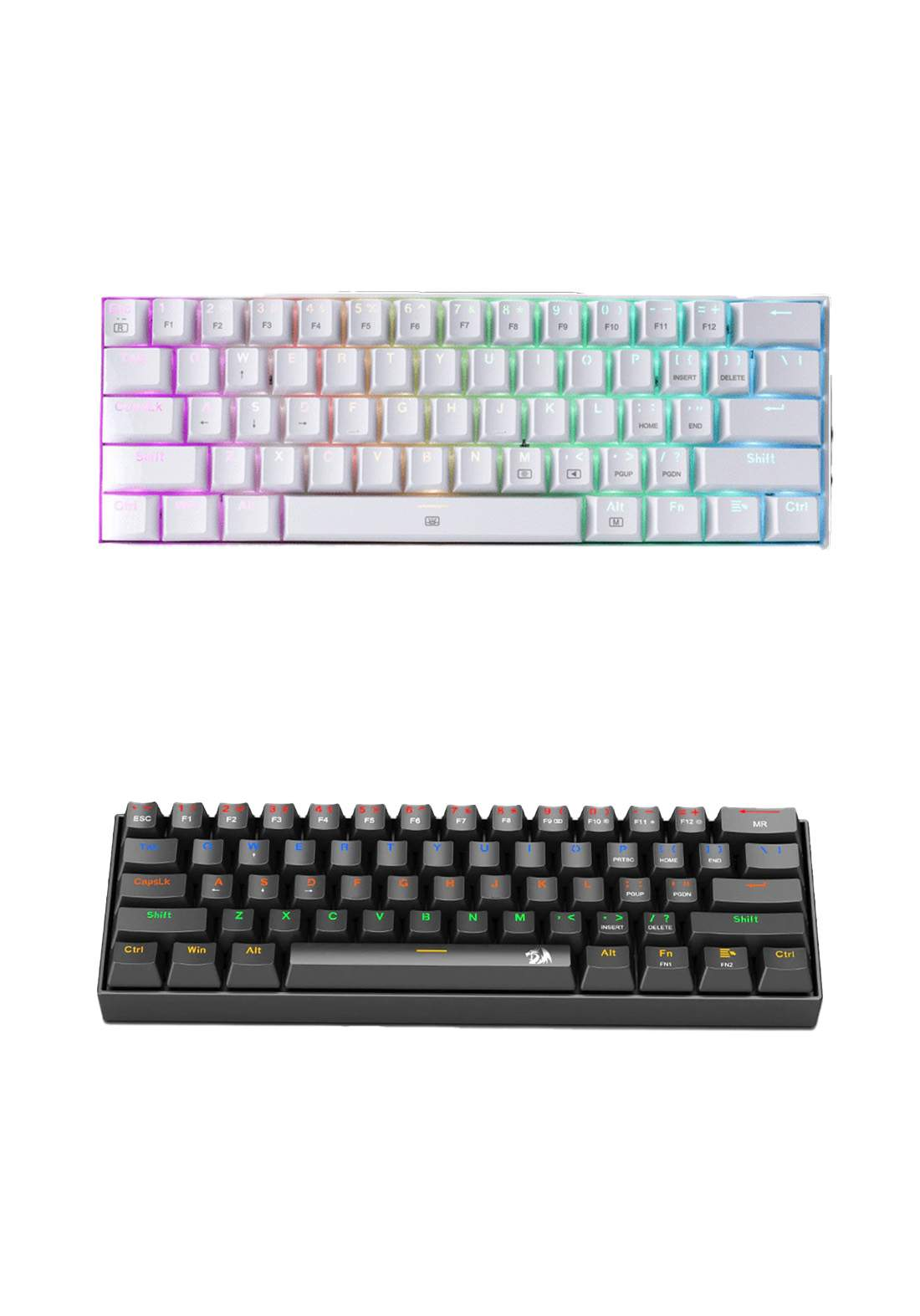 Redragon K606 Lakshmi Rainbow USB Mechanical Gaming Keyboard لوحة مفاتيح