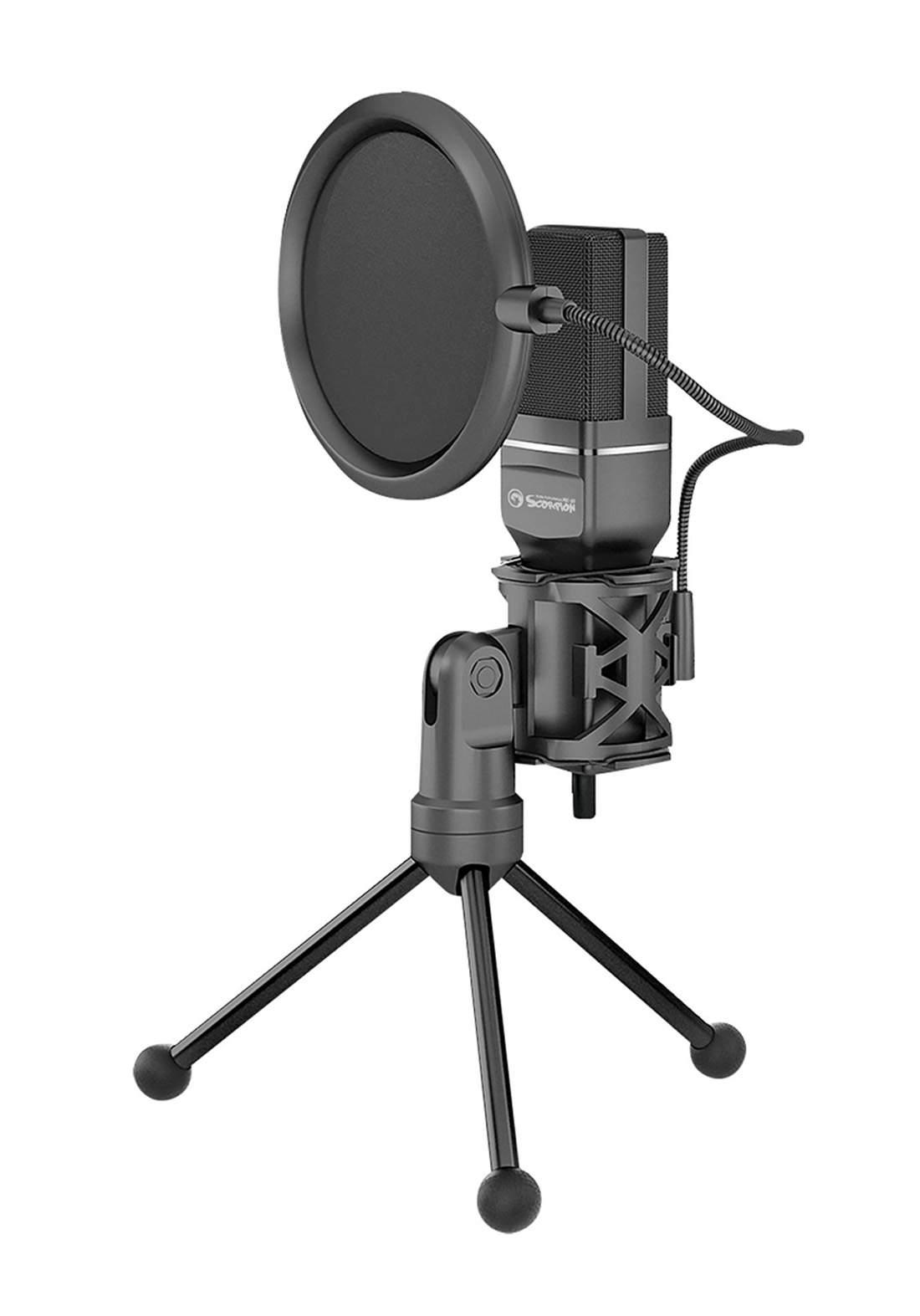 Marvo Scorpion MIC-03 USB Desktop Microphone - Black مايكروفون