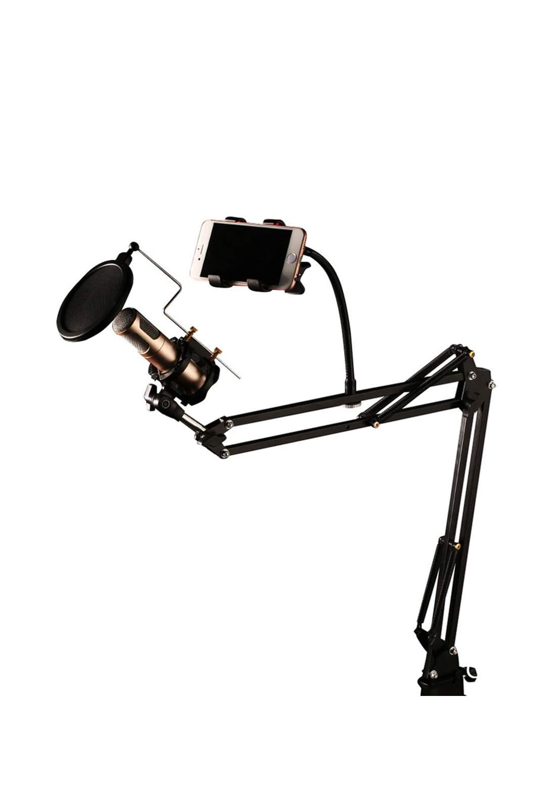 Remax CK100 Mobile Recording Studio Set Microphone Stand - Black مايكروفون