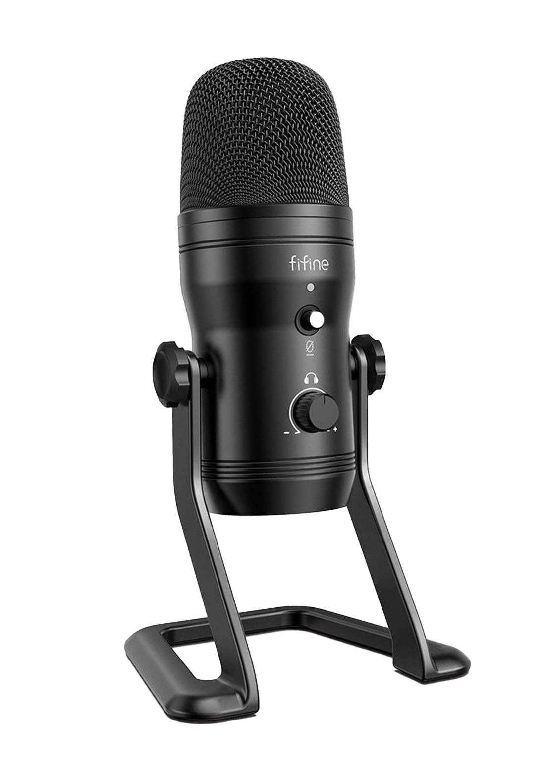 Fifine K690 USB Microphone for PC Recording and Broadcasting - Black
