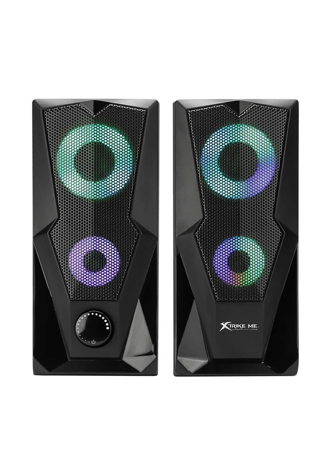 Xtrike Me SK-501 2.0 Stereo Gaming Speaker with RGB Backlight - Black