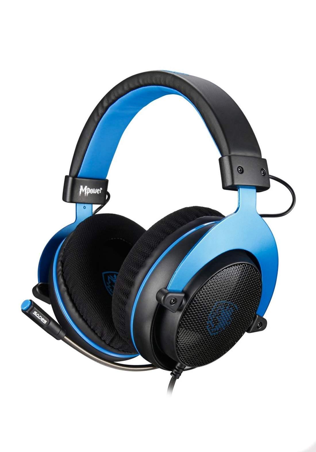 Sades MPower Wired Gaming Headphones - Pink سماعة