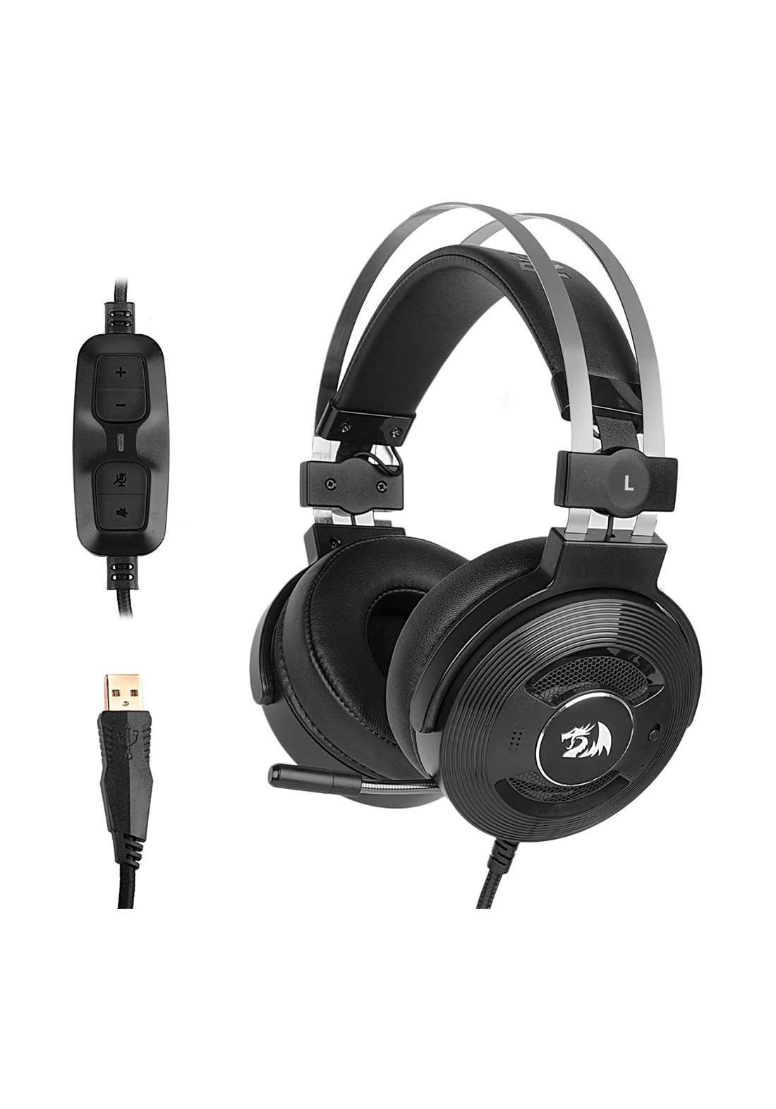 Redragon Triton 7.1 USB Wired Gaming Headphones - Black سماعة