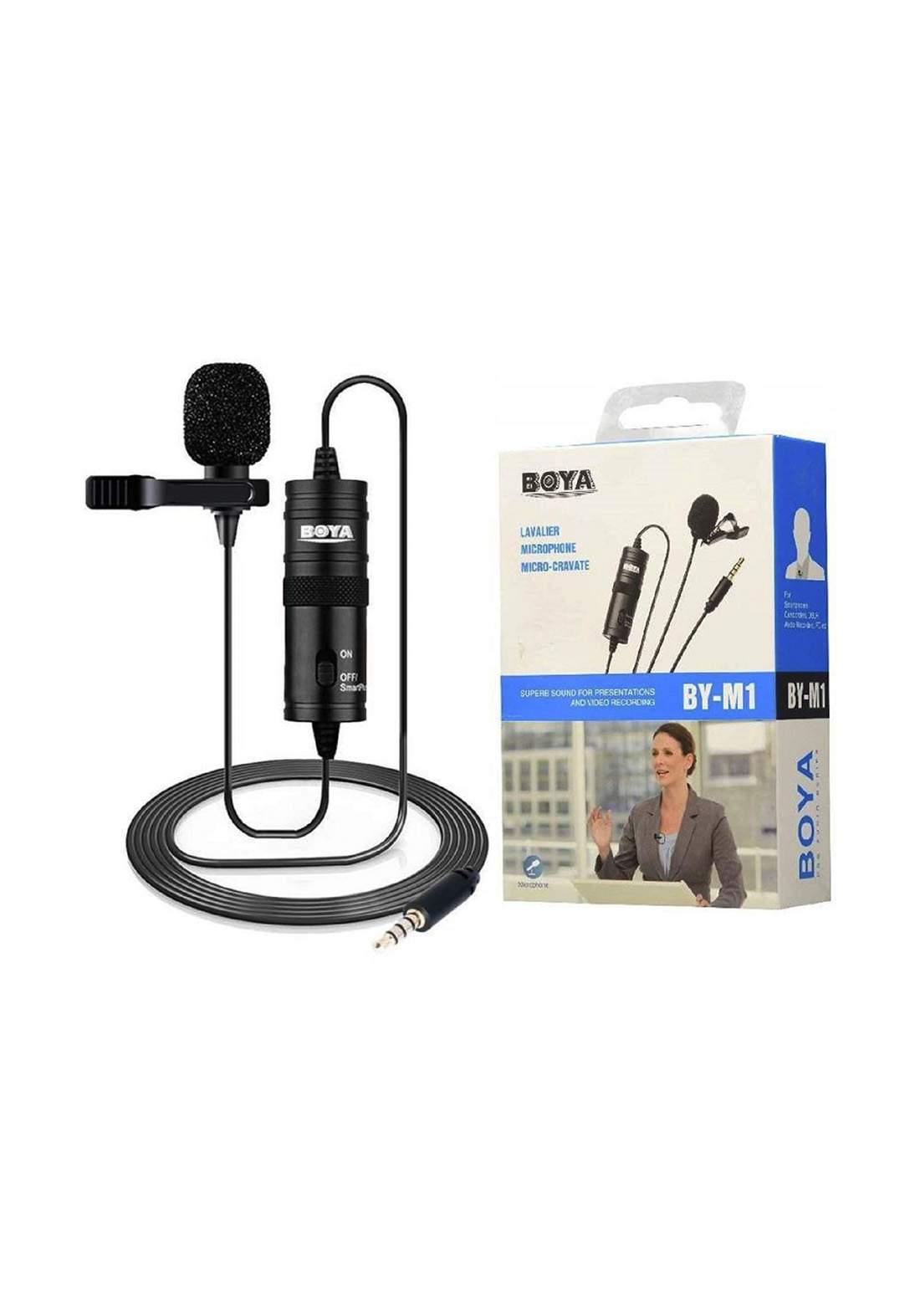 BOYA BY- M1 Lavalier Microphone  Micro-Cravate- Black مايكرفون