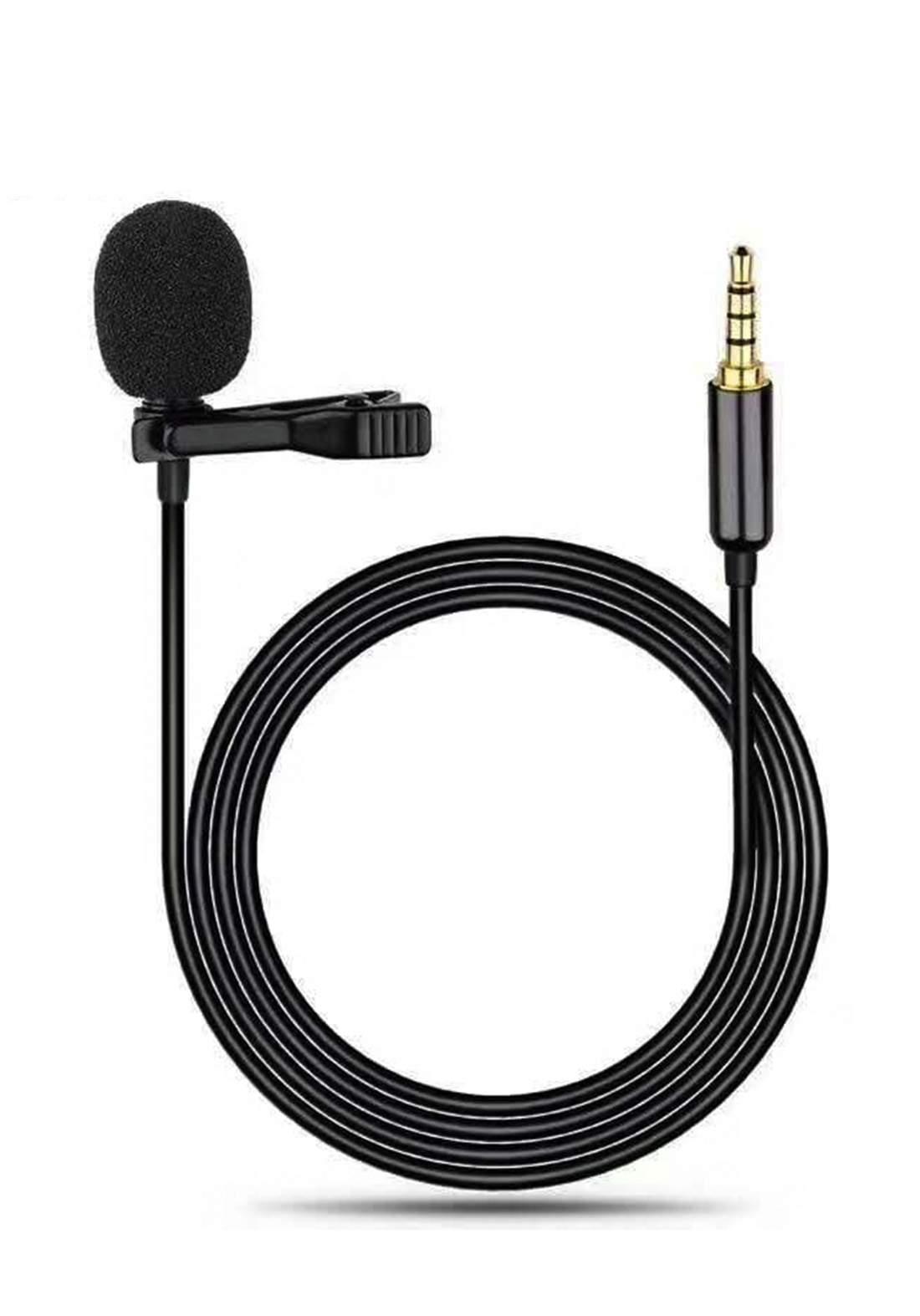 REMAX RL-LF31 Micdo Series 3.5mm Jack Clip Microphone - Black مايكرفون