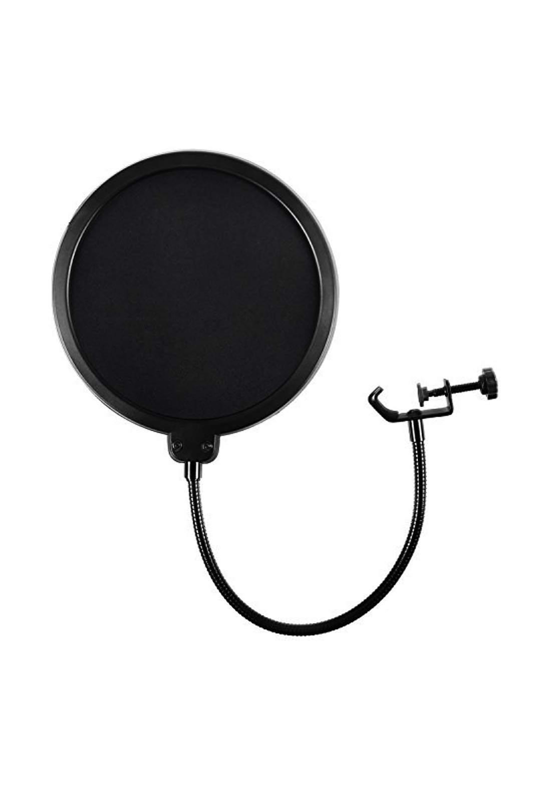 Studio microphone round shape with pop filter - Black فلتر مايكرفون