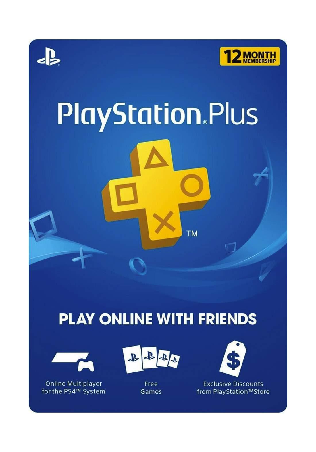 PlayStation Plus 12 Month Membership USA Card