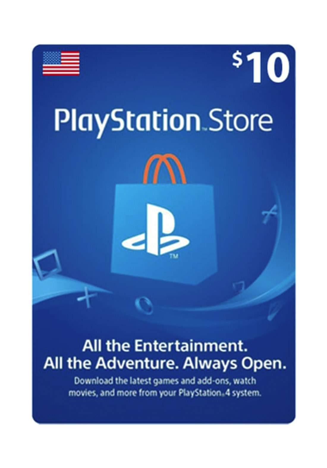 PlayStation 10$ USA Store Card