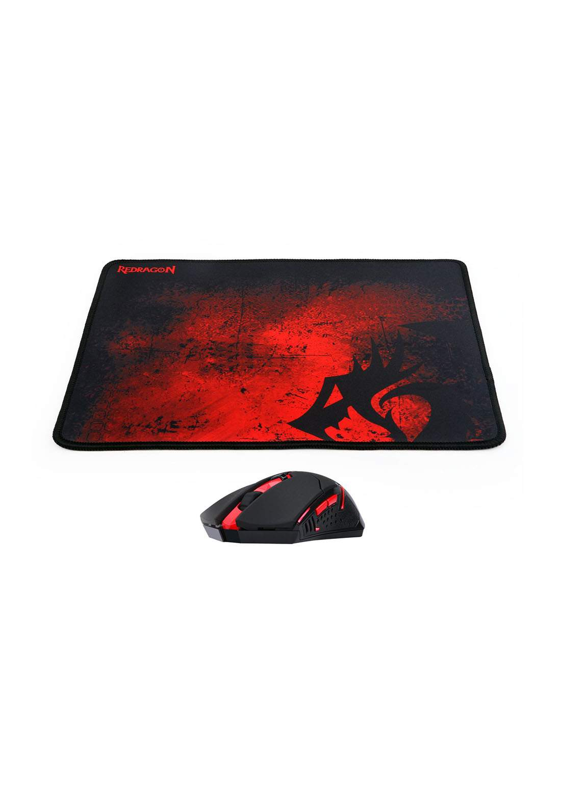 Redragon M601-WL-BA Wireless Gaming Mouse and Mouse Pad Combo - Black ماوس