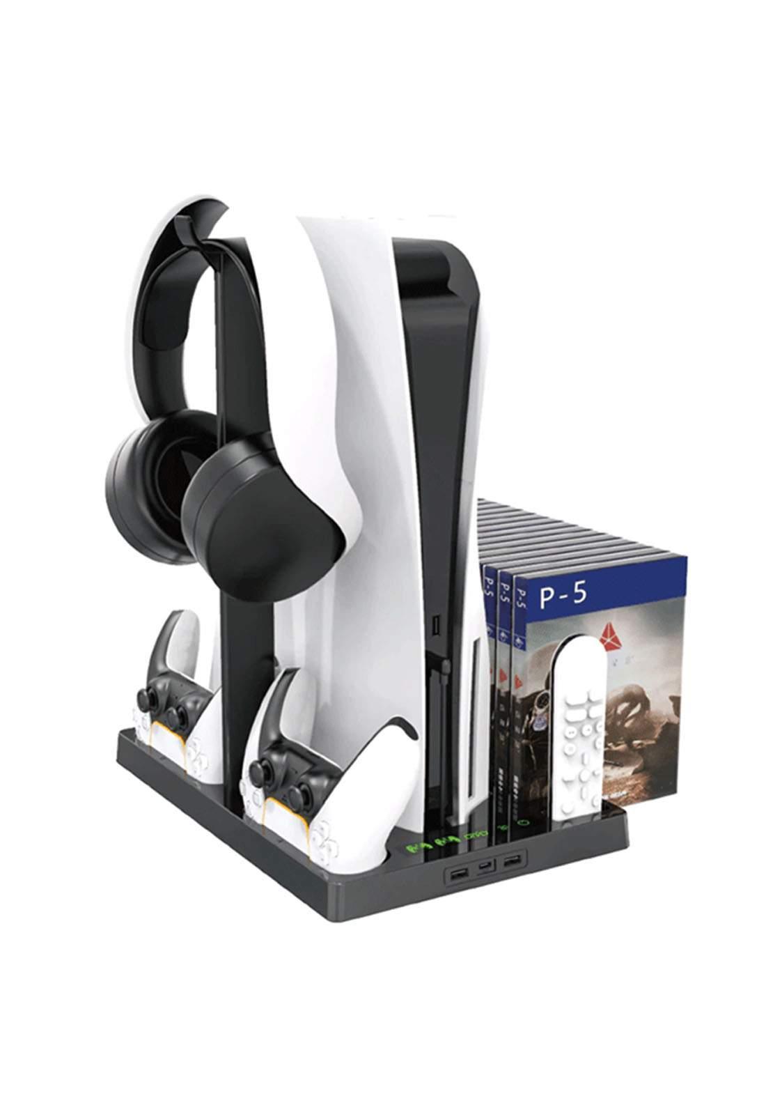OTVO IV-P5246 Multifunctional Cooling Stand for PS5 - Black شاحن وحامل وحدات التحكم