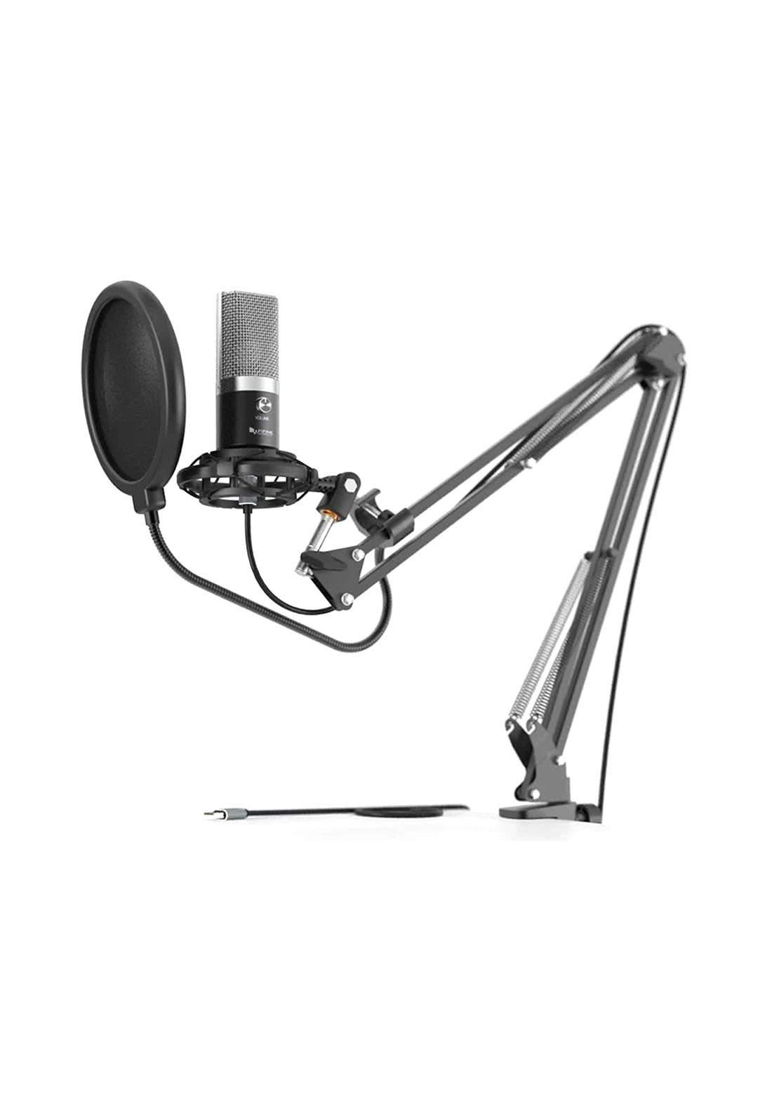Fifine T670 USB Microphone With Studio Bundle Kit - Black مايكروفون