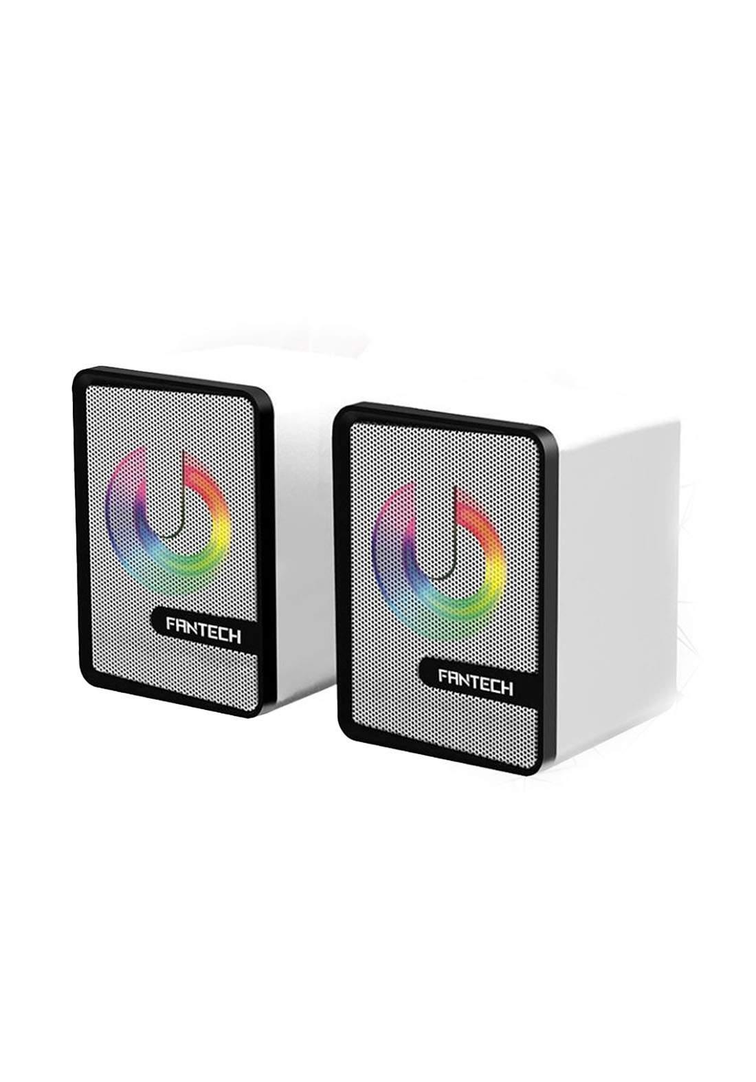 Fantech GS203 Mini RGB Lighting Computer Speaker - White سبيكر