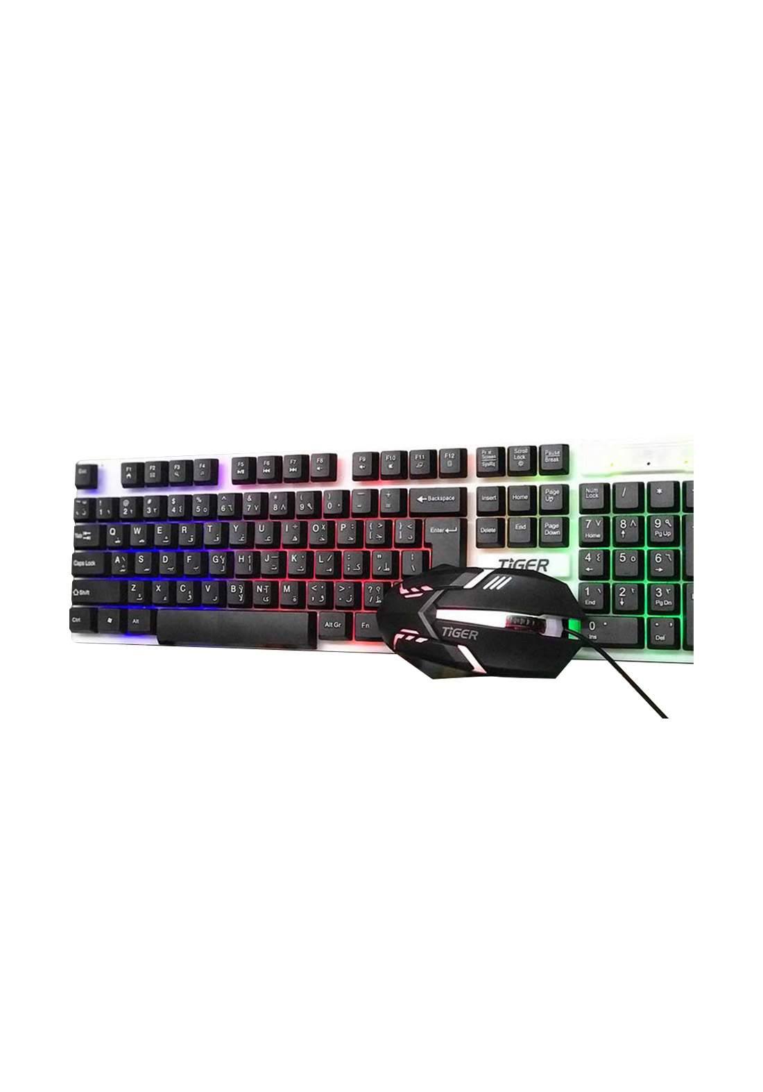Tiger XG-1 RGB Combo Keyboard And Mouse Gaming - Black  لوحة مفاتيح وفأرة