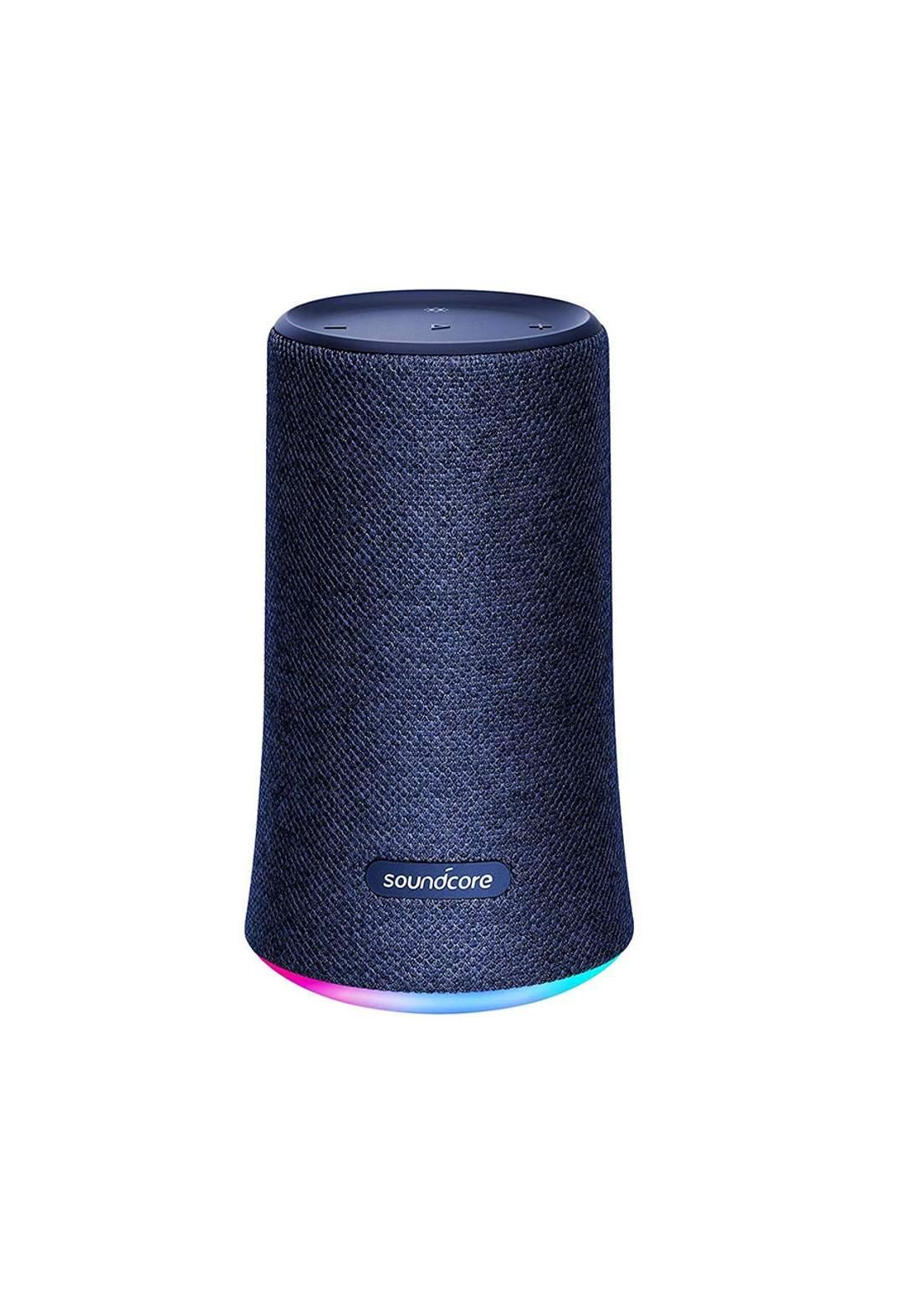 Anker A3161H31 SoundCore Flare Water-Resistant Portable Wireless Bluetooth Speaker - Blue سبيكر (848061053210)