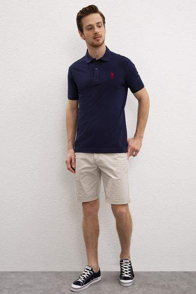 US Polo تيشيرت رجالي نيلي اللون ماركة