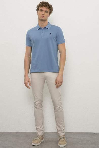 US Polo تيشيرت رجالي ازرق اللون ماركة