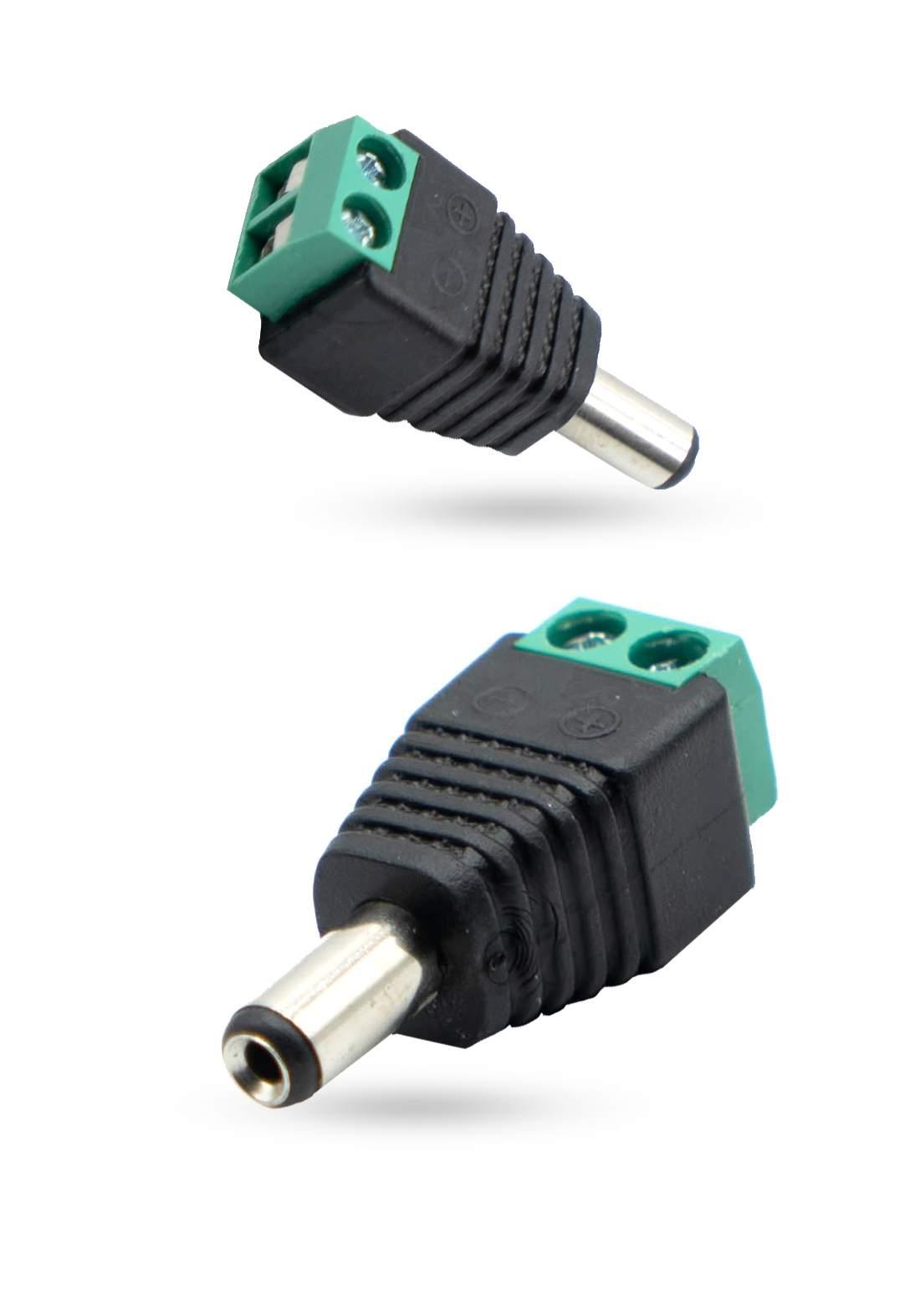 Power Max CCTV Camera DC Power Plug Male Connector تحويلة كاميرا