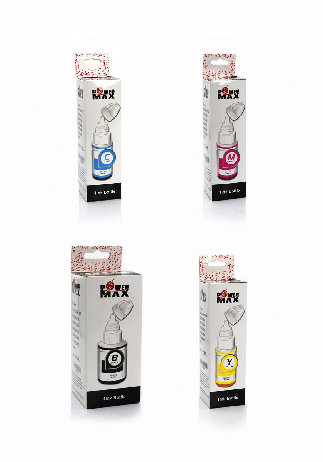 Power Max Canon G-Series Refill  INK Bottle Set سيت علب حبر