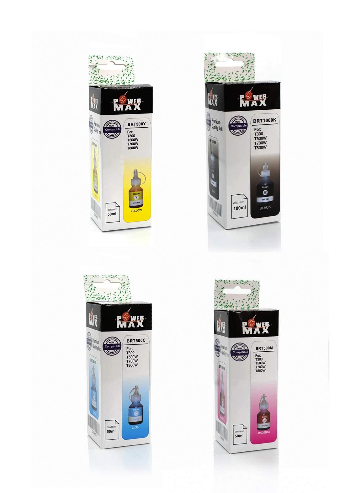 Power Max Brother T-Series Refill  INK Bottle Set سيت علب حبر