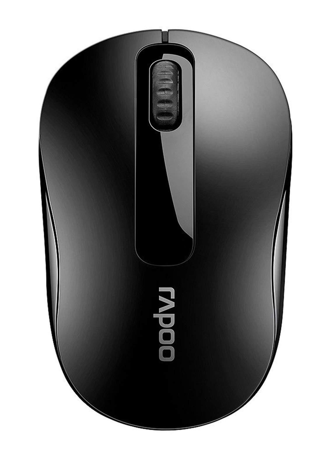 Rapoo M10 Plus Wireless Mouse - Black ماوس