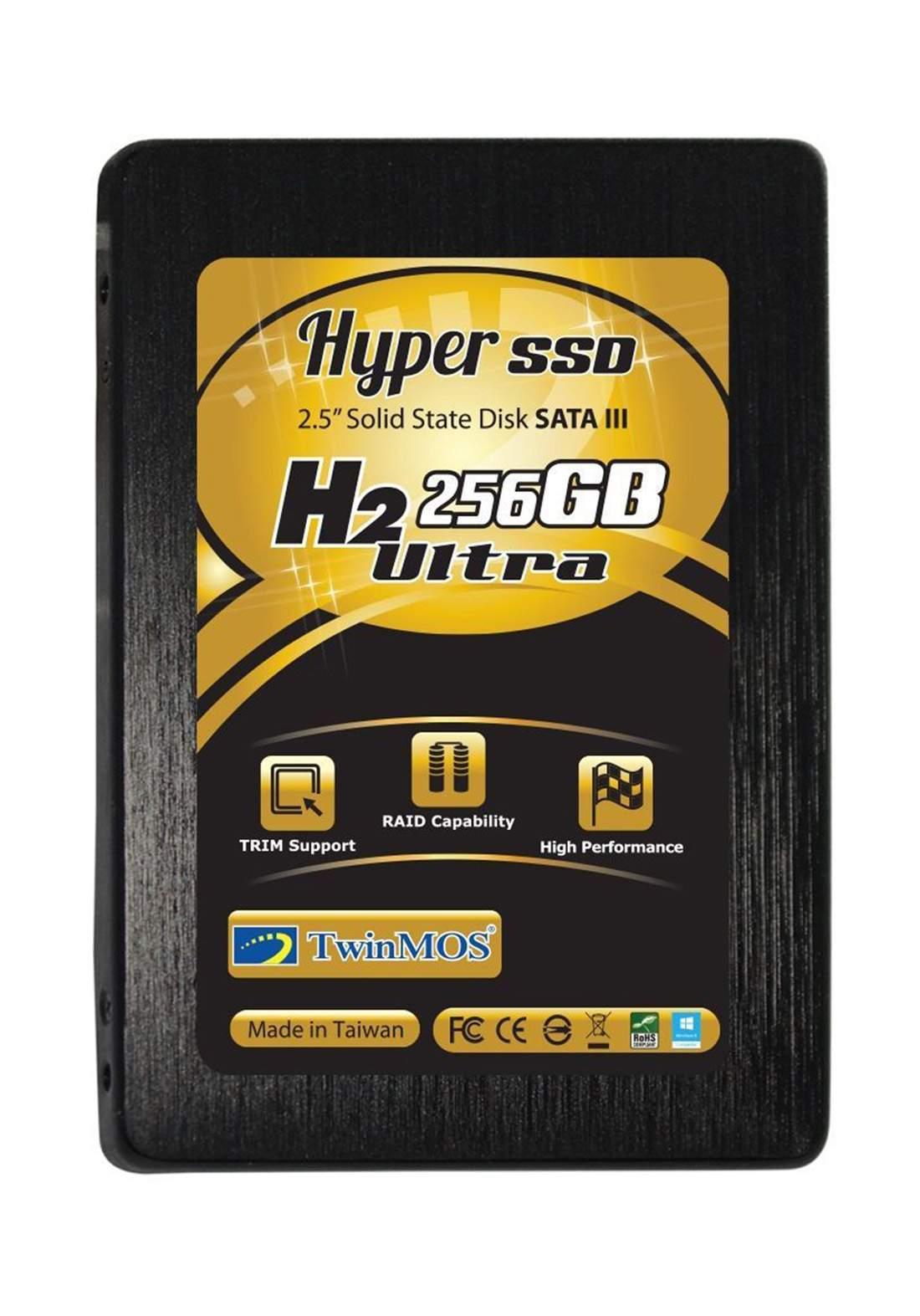 Twinmos Hyper H2 Ultra 256 GB Internal Solid State Drive - Black هارد داخلي