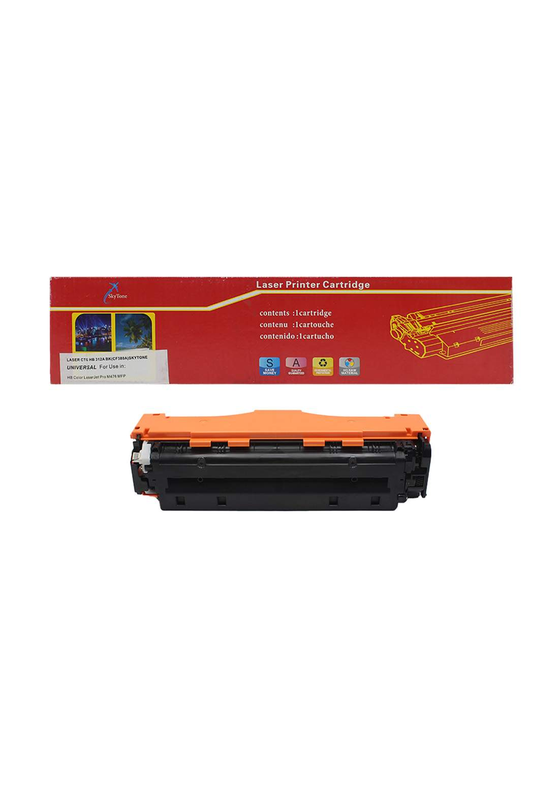 SKYTONE CTG HP 312A (CF380A) Universal Laser Printer Toner Cartridge خرطوشة حبر