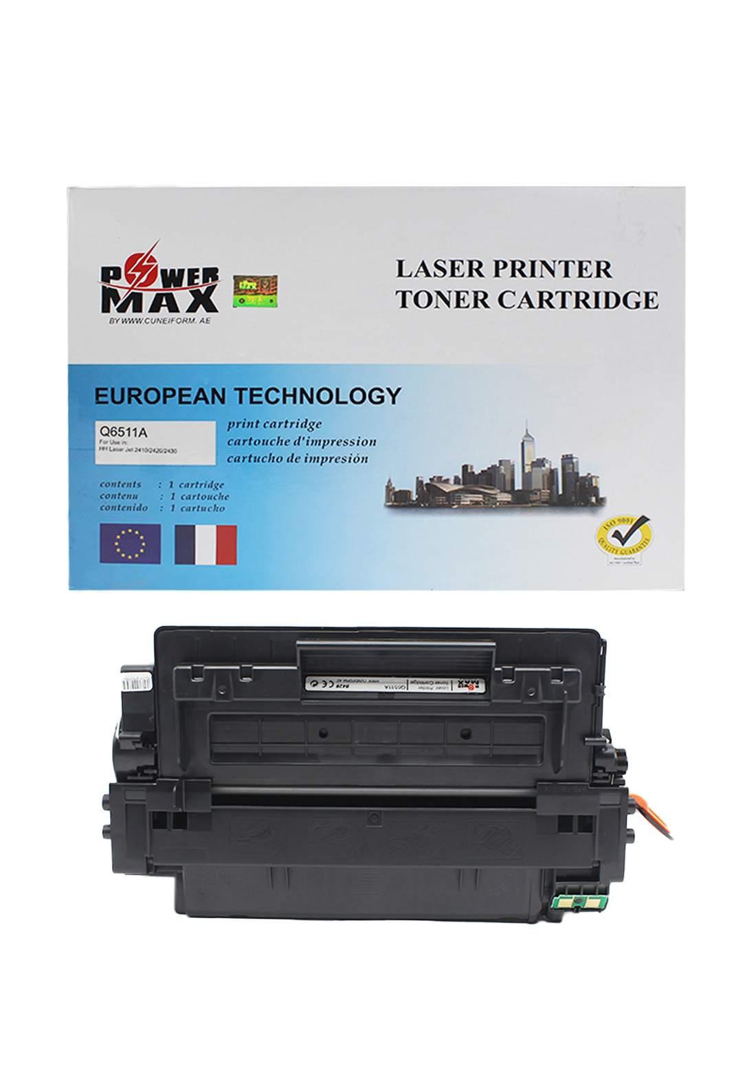 Power Max CTG HP 11A (Q6511A) Laser Printer Toner Cartridge خرطوشة حبر
