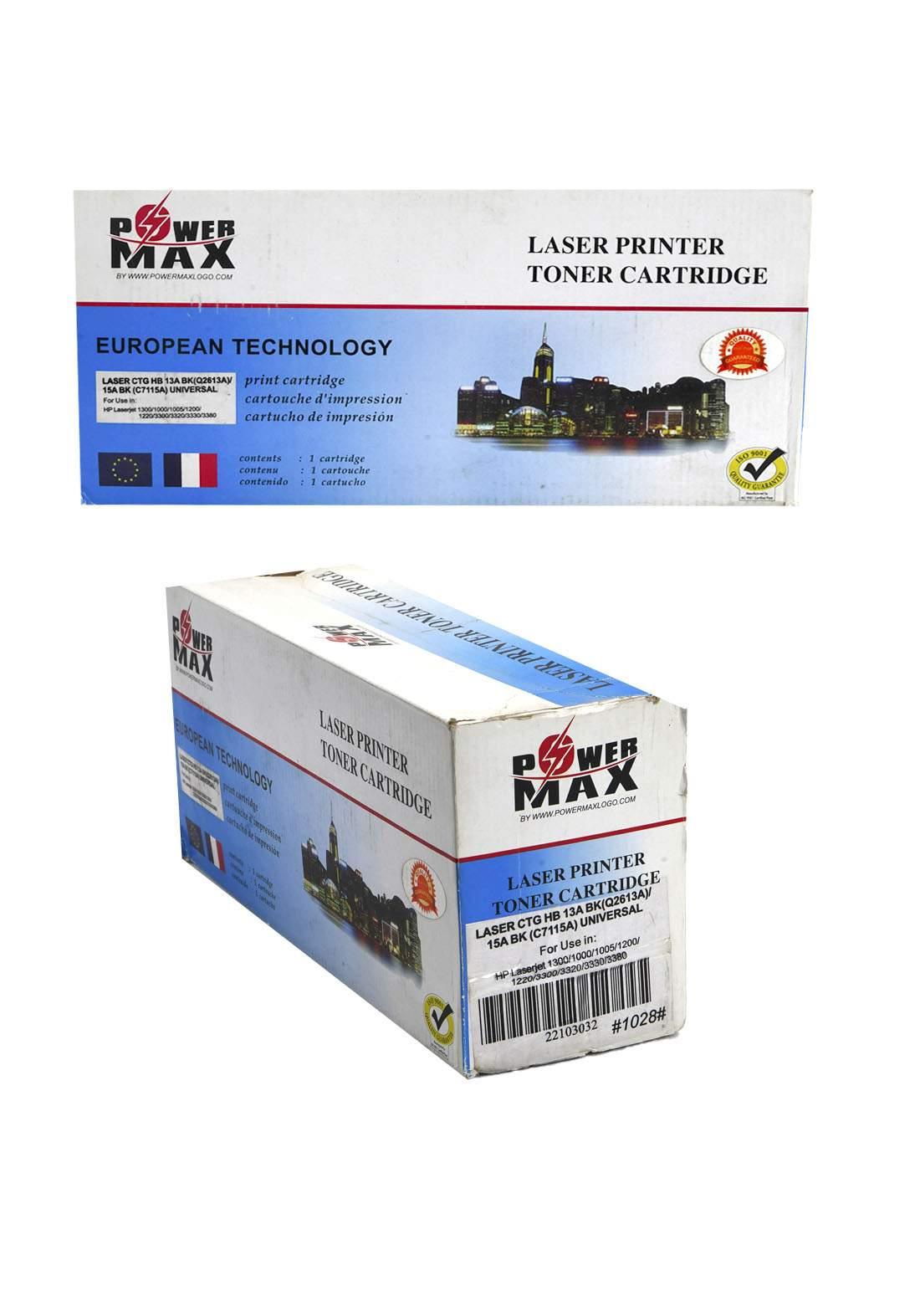 Power Max CTG HB 13A (Q2613A)/15A (C7115A) Laser Printer Toner Cartridge خرطوشة حبر