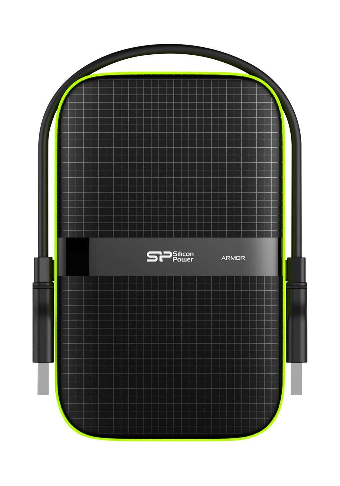 """Silicon Power Hard Drive Armor A60 5TB External,2.5"""" - Black  هارد خارجي"""