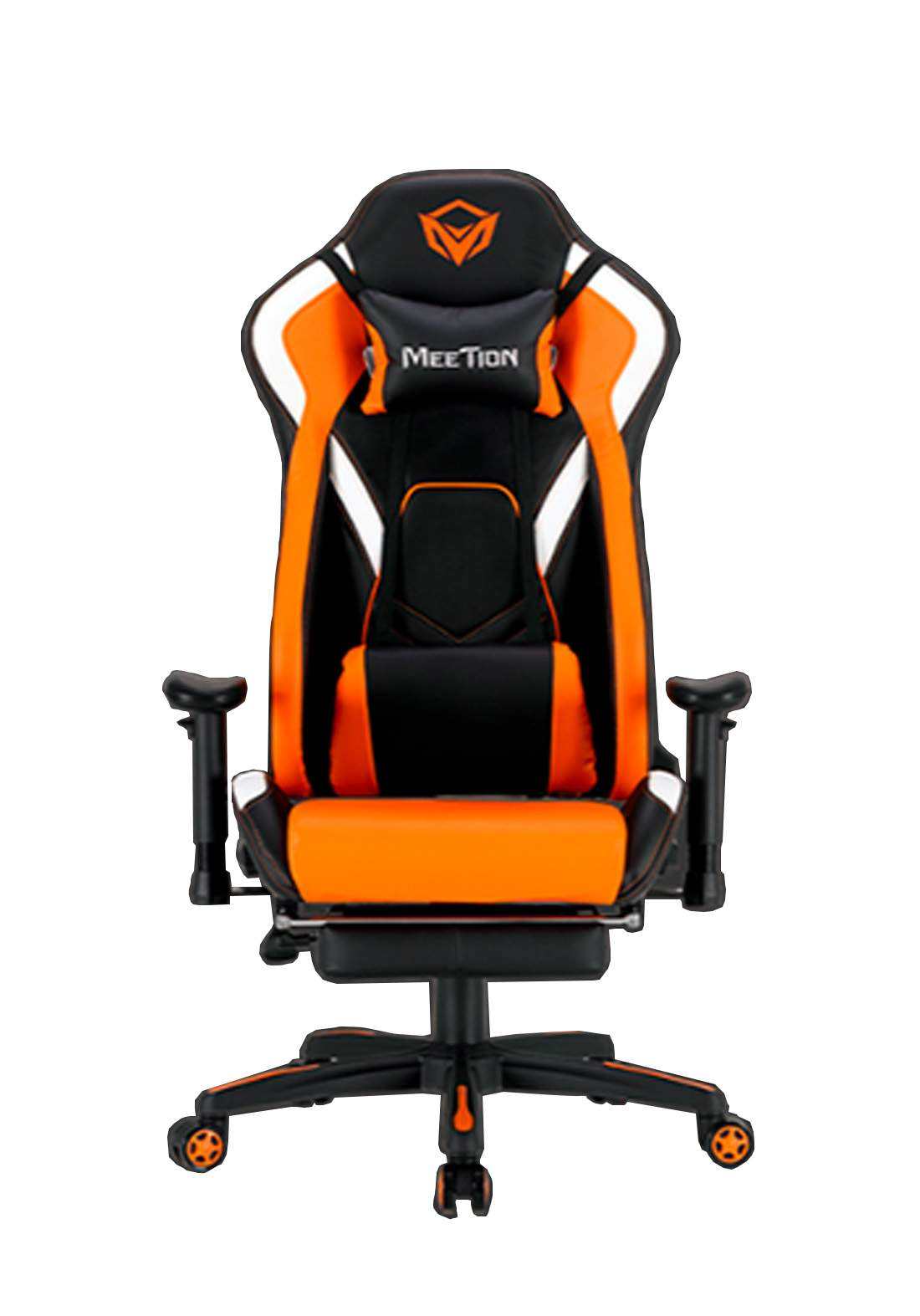 Meetion CHR22 Leather Reclining Gaming E-Sport Chair with Footrest - Orange  كرسي ألعاب