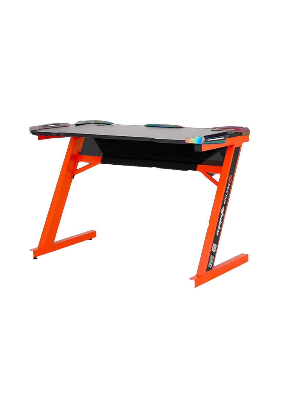Meetion DSK10 Z Shaped Gaming E-Sport Desk - Orange منضدة لابتوب
