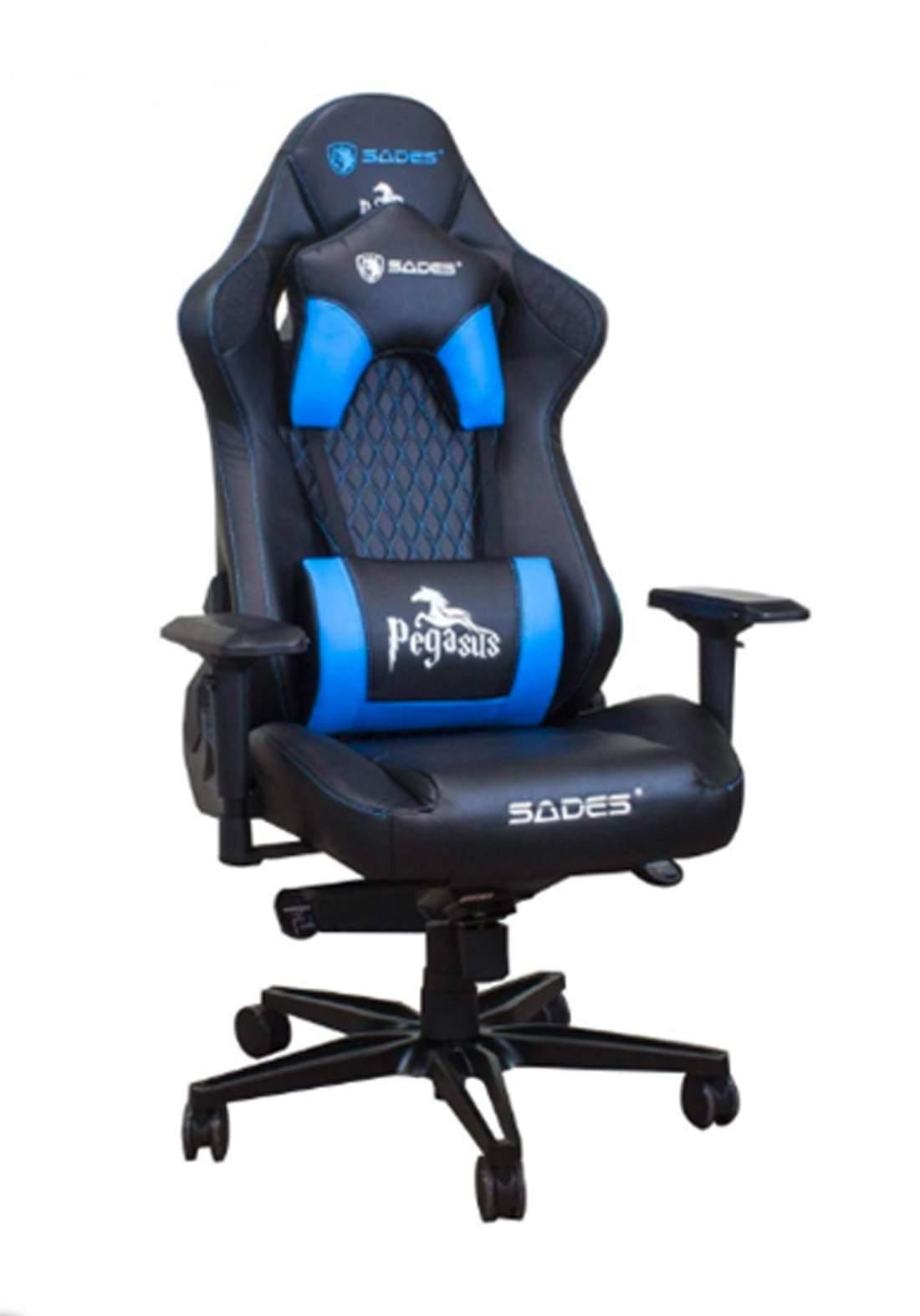 Sades SA-AD5 Pegasus Gaming Chair - Blue كرسي ألعاب