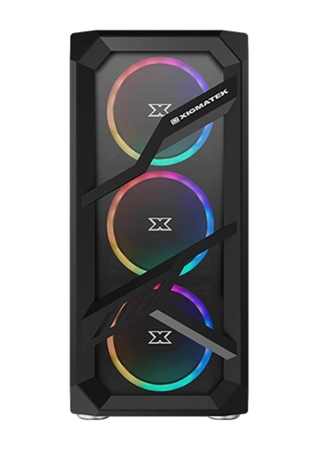 Xigmatek Lamiya RGB Tempered Glass Gaming Case - Black