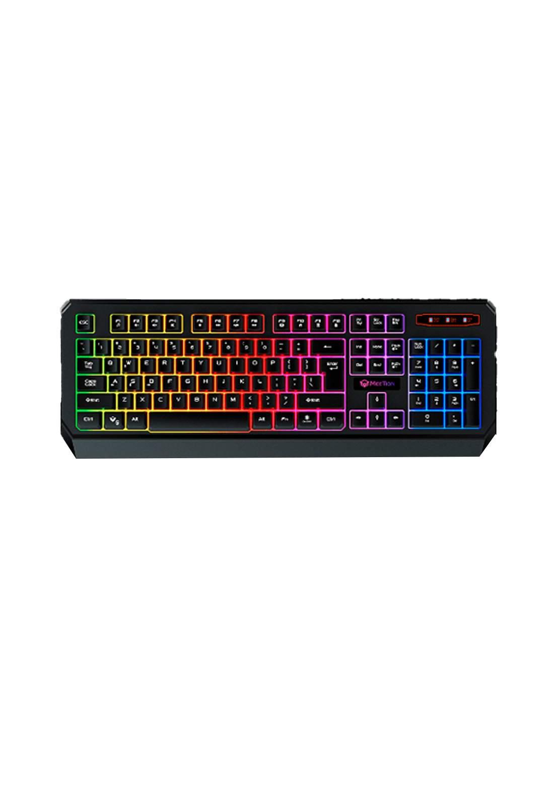 Meetion K9320 Waterproof Backlit Gaming Keyboard - Black كيبورد