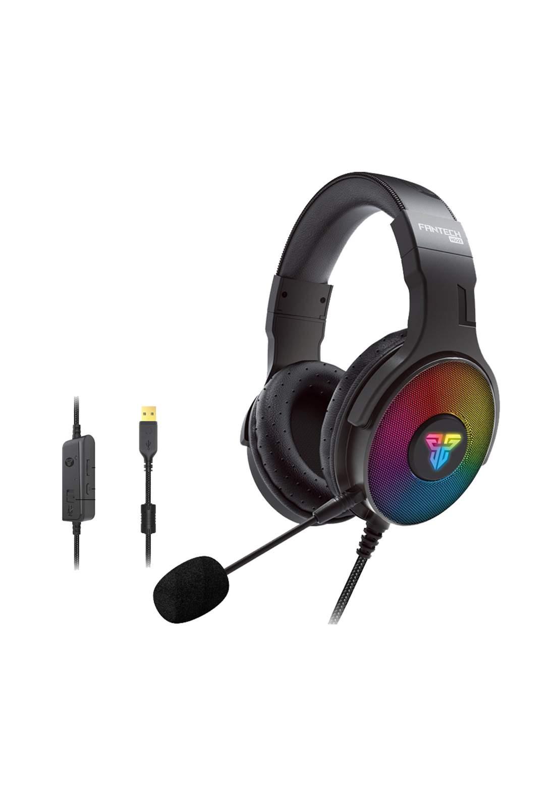 Fantech Fusion HG22 RGB 7.1 Wired Gaming Headset - Black سماعة سلكية