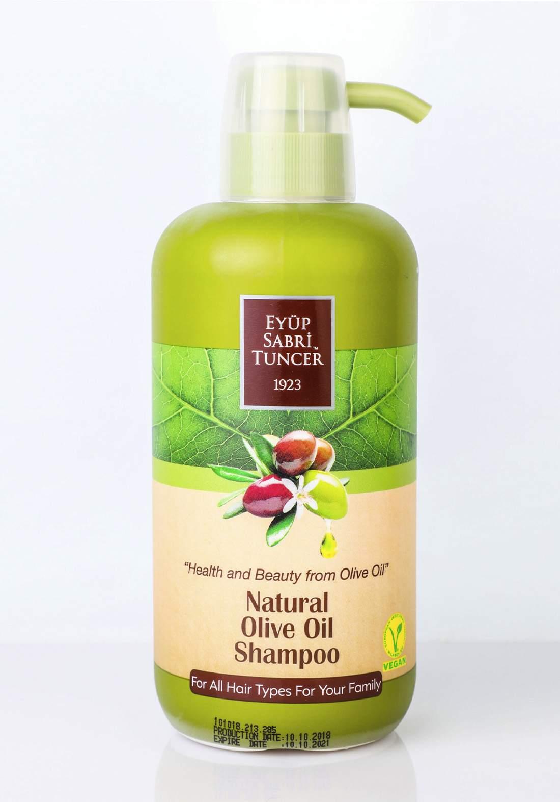Eyup Sabri Tuncer  Natural Olive Oil Shampoo 600 ml شامبو  بزيت الزيتون الطبيعي